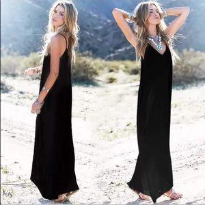 Dresses & Skirts - ✨RESTOCK ✨Black loose fit pocket tank maxi dress